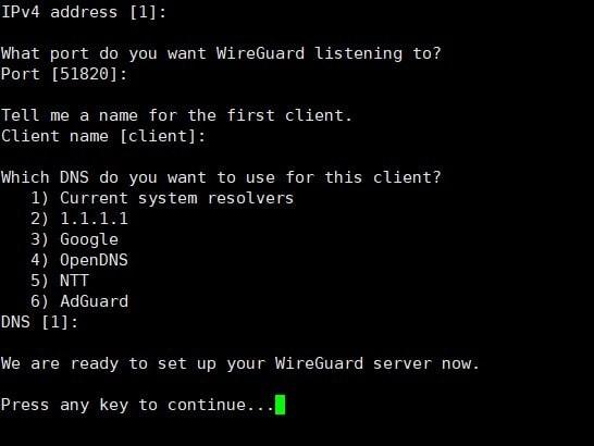 Linux下,一键安装WireGuard